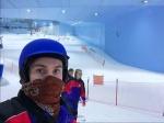 Skipiste in einer Indoor Ski Halle