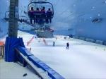 Skilift in einer Indoor Ski Halle