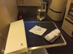 Sekt in der Business Class