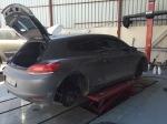 VW Sirocco in der Werkstatt
