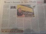 Zeitungsartikel vom Feuerwehrmann Chris Mayer